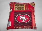 San Francisco 49er's Corn hole Bags
