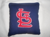 St Louis Cardinals  Blue Embroidered  Corn hole Bags