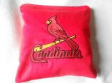 St Louis Cardinals with Bat  Embroidered  Corn hole Bags