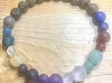 Bracelet - chakra with wood beads