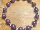 Bracelet - lavender / brown
