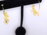 Citrine Chip Hoop Earrings