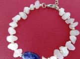 Rose Quartz and Blue Oval Sodalite Stone Bracelet