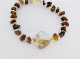 Tiger Eye and Natural Shell Bracelet