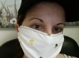 5 pack,adult reusable face mask,hearts print,handmade,5 pack,washable,cotton dust mask,quarantine birthday gift.lightweight fabric,handmade.