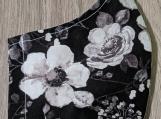 Black floral reusable fabric face mask