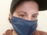 blue face masks,5 pack,adult reusable face mask,blue,handmade,washable,cotton dust mask,quarantine birthday gift.lightweight fabric,handmade