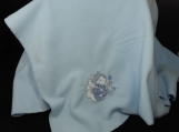 Blue Fleece Baby Blanket With Embroidered Baby Boy