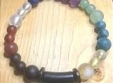 Bracelet - chakra with dark embellishment