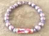 Bracelet - muted purple beads