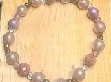 Bracelet - pink faceted/muted purple