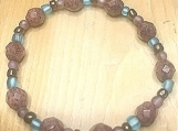 Bracelet - rose gold faceted