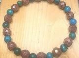 Bracelet - rose gold/turquoise