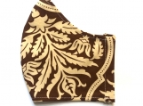 Brown Damask Mask