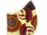 Circles African Print Mask