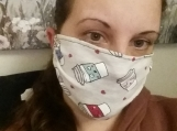 coffee print face masks,5 pack,adult reusable masks,blue,handmade,washable,cotton dust mask,quarantine birthday gift.lightweight,handmade
