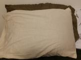 cotton pillow,cream color linen pillow cases set of 2,linen pillow,body pillow case,pillow cover,made in Canada,various colors