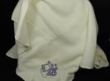Cream Fleece Baby Blanket With Embroidered Baby Boy