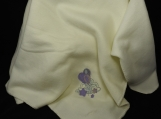 Cream Fleece Baby Blanket With Embroidered Balloons