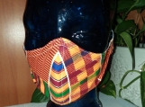 Face Mask-1 adult Kente Cloth, Reusable,Washable, Double Layered