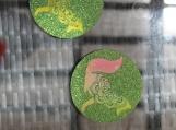 Fox mandala coasters