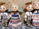 Hand-Crafted Dolls in Belarus' National Costumes