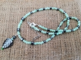 Hematite & Green beaded necklace