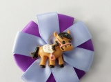 Horse Purple flower Hair clip