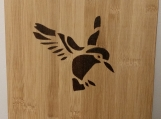 humingbird bamboo cutting board,engraved cutting board,kitchen decor,woodburning art,cooking,birthday,anniversary,wedding gift