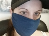 navy blue face mask,5 pack blue,dust mask,gift.handmade,outdoors