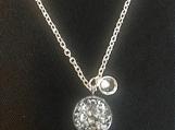 Necklace - green/blue shimmer
