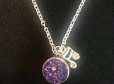 Necklace - silver/purple shimmer