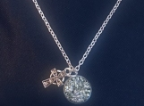 Necklace - silver/turquoise shimmer