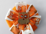 Orange Owl Hair Bow