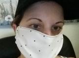polka dot face masks,5 pack,adult reusable face mask,handmade,washable,white dust mask,quarantine birthday gift.lightweight fabric,handmade.