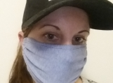 sky blue face mask,5 pack,adult reusable face mask,blue,handmade,washable,cotton dust mask,quarantine birthday gift.lightweight,handmade.