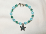 Sparkly Starfish beaded bracelet
