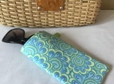 Sunglass Case - Paisley Blue