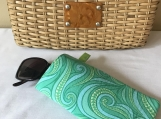 Sunglass Case - Paisley Green