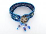 Triple Strand Turquoise Nylon Cord Bracelet