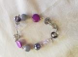7 inch Purple Bracelet