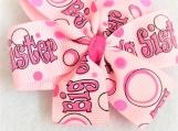 Big Sister pink children hair bow