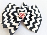 Black and White big bow children hair clip