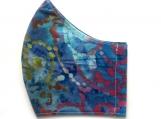 Blue & Purple Splatter Batik Mask
