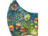 Blue & Yellow Batik Print Mask