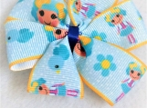 Blue doll children hair clip