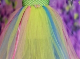 Green, Blue and Pink Butterfly Tutu dress or skirt
