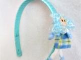 Children Blue Doll Headband