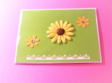 Clay Daisy Green Greeting Card