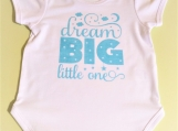 Dream Big Little One baby Onesie Size 9-12 months